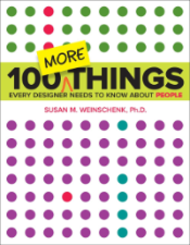 Boekomslag 100 More Things Every Designer Needs to Know about People